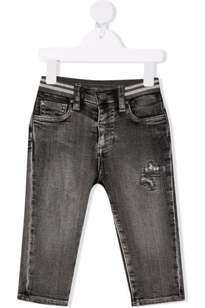 Monnalisa Straight - Distressed-effect straight leg jeans