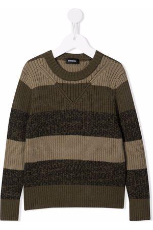 Diesel Boys Sweaters - Stripe panel knit jumper