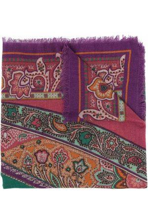 ETRO Women Scarves - Paisley-print frayed-edge scarf