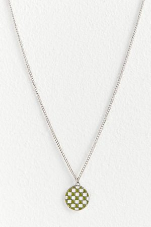 Urban Outfitters Checker Pendant Necklace