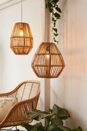 Urban Outfitters Bamboo Woven Pendant Light Shade