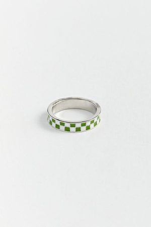 Urban Outfitters Checker Band Ring