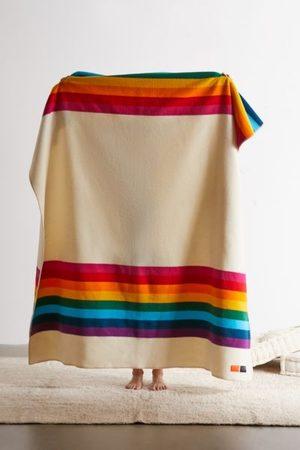 Pendleton UO Exclusive Rainbow Wool Bed Blanket