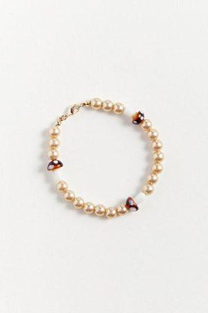 Urban Outfitters Men Bracelets - Mushroom & Pearl Bracelet