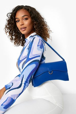 Boohoo Womens Curved Rectangle Waved Shoulder Bag - - One Size