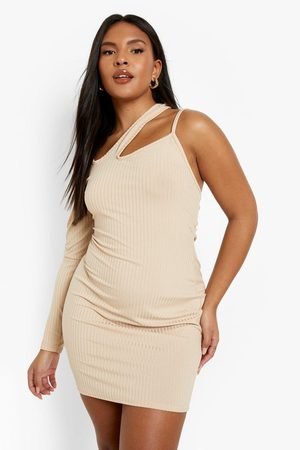 Boohoo Womens Plus One Shoulder Cut Out Bodycon - - 12