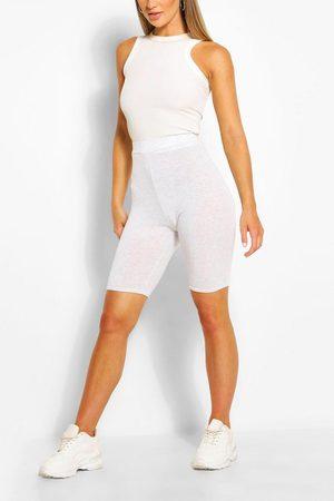 Boohoo Womens Basic Solid Biker Shorts - - 2