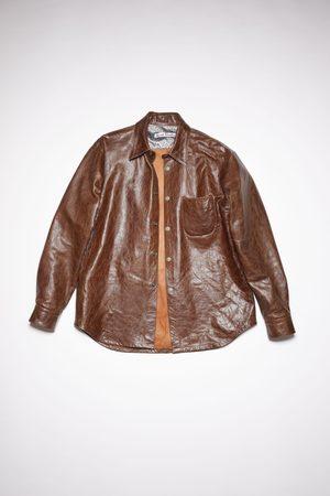 Acne Studios Men Long sleeves - FN-MN-SHIR000441 Leather shirt