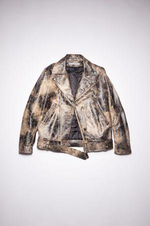 Acne Studios FN-MN-LEAT000155 /beige Leather biker jacket