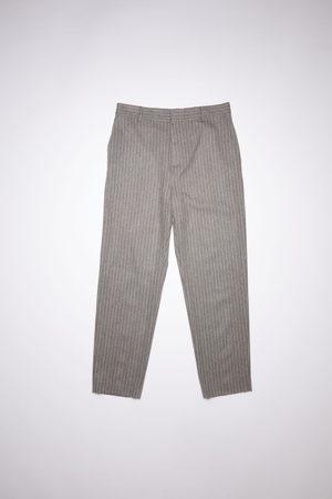 Acne Studios FN-MN-TROU000567 /beige Pinstripe trousers