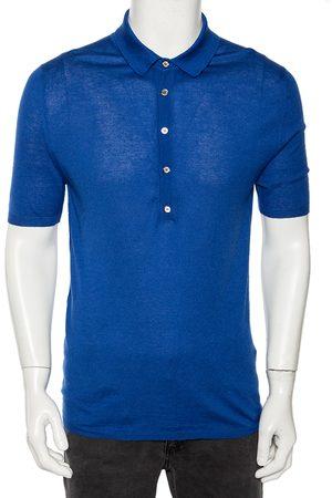 Gucci Cashmere & Silk Knit Polo T Shirt XL