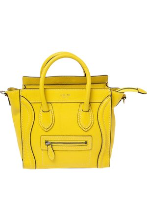 Céline Leather Nano Luggage Tote