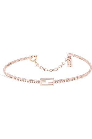 Fendi Rose Tone Baguette Bracelet L