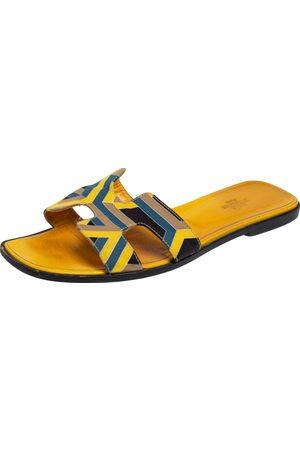Hermes Fabric Oran Flats Size 40