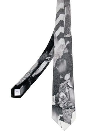 Burberry Grey Rave Print Classic Cut Silk Tie