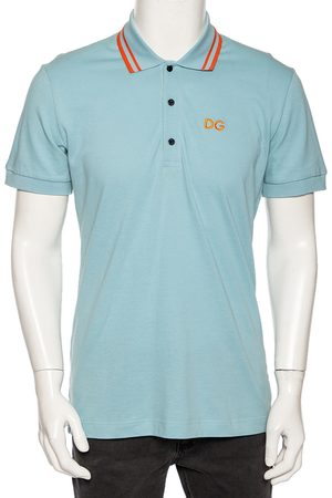 Dolce & Gabbana Men Polo Shirts - Light Cotton DG Logo Polo T Shirt L