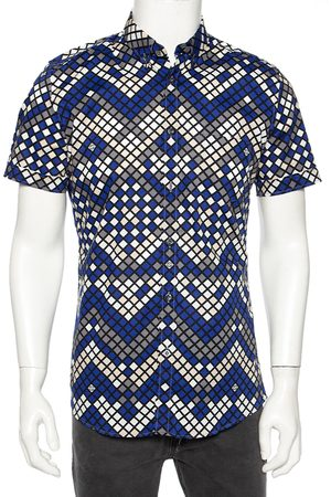 Gucci Multicolored Patterned Cotton Short Sleeve Shirt M