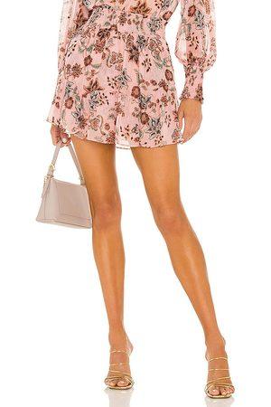 MISA Roan Skirt in Wine,Rose.