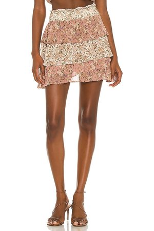 Show Me Your Mumu Amy Skirt in Mauve,Neutral.