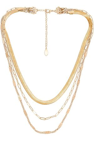 8 Other Reasons X Sofia Richie Paperclip Layered Necklace in Metallic .