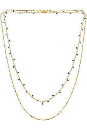 Jenny Mavi Layered Necklace in Metallic .