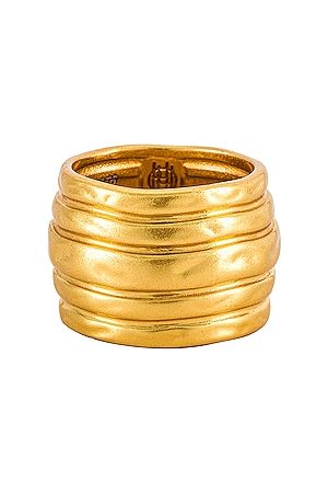 House of Harlow House of Harlow Honeycomb Cigar Band in Metallic .