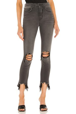 L'Agence High Line High Rise Skinny Destructed in Grey.