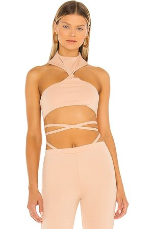 h:ours Atlas Cropped Top in Nude.