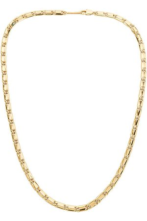 Jenny Box Chain Necklace in Metallic .