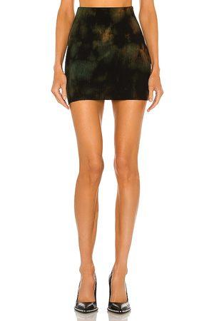 Cotton Citizen X REVOLVE Ribbed Mini Skirt in Black.