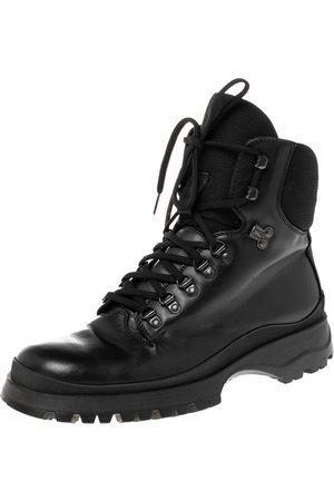 Prada Sport Leather Combat Boots Size 43.5