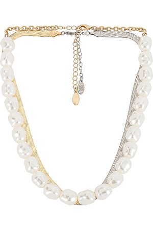 8 Other Reasons X Sofia Richie Pearl & Two Tone Layered Necklace.