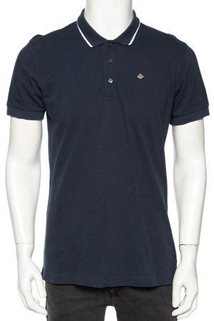 Dolce & Gabbana Navy Cotton Pique Polo T-Shirt XL