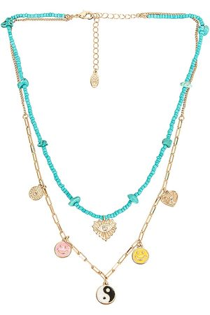 8 Other Reasons Violet Necklace in Teal.