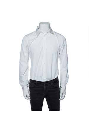 Roberto Cavalli Cotton Monogram Button Front Shirt M