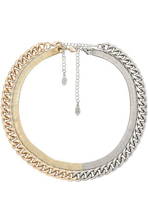 8 Other Reasons Women Necklaces - X Sofia Richie Two Tone Layered Necklace in Metallic Silver,Metallic Gold.