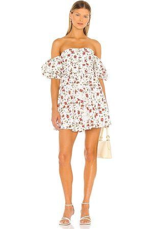 MAJORELLE Adelina Mini Dress in Ivory.