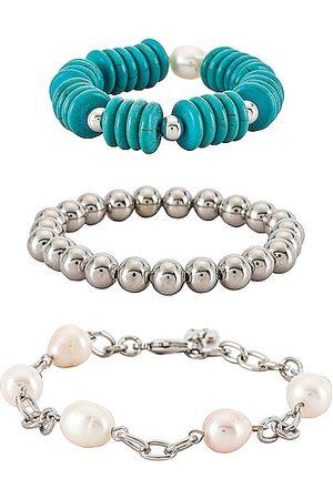 Dannijo Women Bracelets - Buck Bracelet Set in Teal.