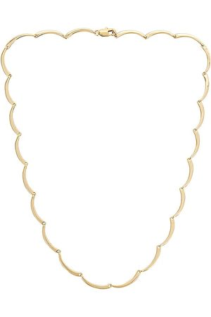 Loeffler Randall Karolina Scallop Necklace in Metallic .
