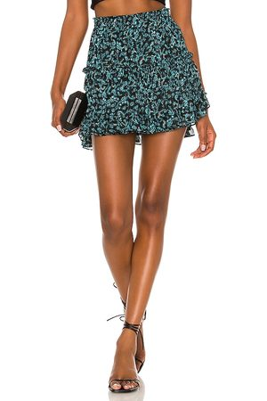 MISA Marion Skirt in Teal.