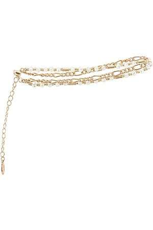 8 Other Reasons Women Body Jewelry - X Sofia Richie Double Chain Anklet in Metallic .