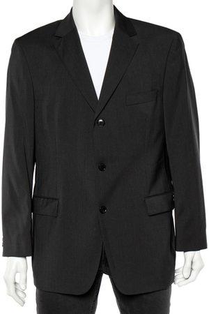 HUGO BOSS Grey Wool Button Front Blazer XL