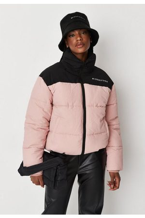 Missguided Tall Colorblock Puffer Coat