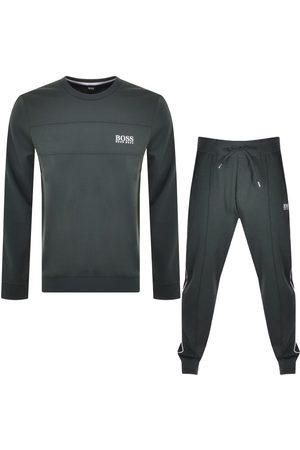 Boss Business Men Tracksuits - BOSS Bodywear Lounge Tracksuit Khaki