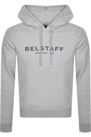 Belstaff Logo Pullover Hoodie Grey