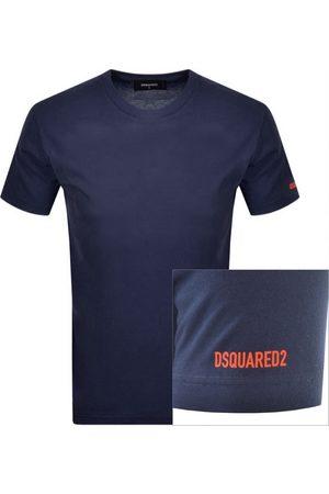 Dsquared2 Logo Short Sleeved T Shirt Navy
