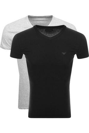 Armani Men Sweats - Emporio 2 Pack V Neck Lounge T Shirts