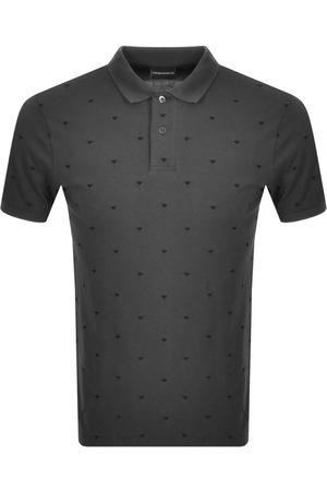 Armani Men Short Sleeve - Emporio Short Sleeved Polo T Shirt Grey