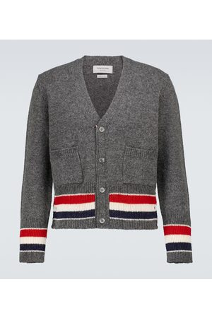 Thom Browne Jersey stitched wool cardigan