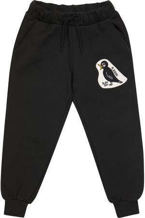 Mini Rodini Blackbird cotton sweatpants
